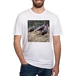 Three Tom Turkey Gobblers Fitted T-Shirt