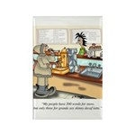Coffee Cartoon 9391 Rectangle Magnet