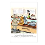 Coffee Cartoon 9391 Postcards (Package of 8)