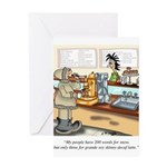 Coffee Cartoon 9391 Greeting Card