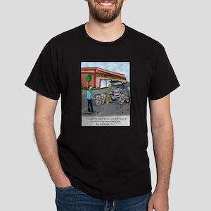 Shopping Cartoon 9392 Dark T-Shirt