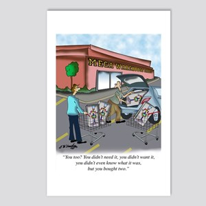 Shopping Cartoon 9392 Postcards (Package of 8)