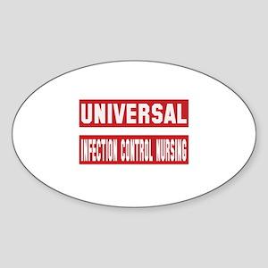 Universal Infection control nursing Sticker (Oval)