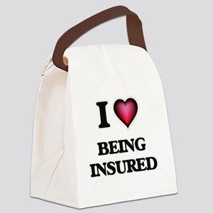 I Love Being Insured Canvas Lunch Bag