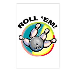 Roll 'Em Bowling Postcards (Package of 8)