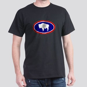 Wyoming State flag oval T-Shirt