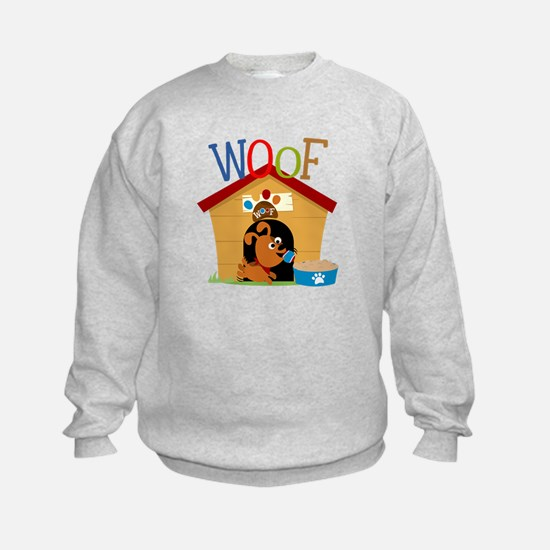 Woof Dog in Doghouse Sweatshirt
