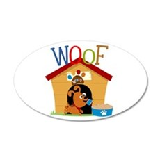 Woof Dog in Doghouse Wall Decal