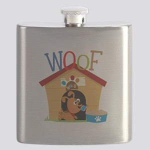 Woof Dog in Doghouse Flask