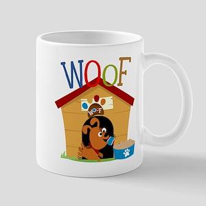 Woof Dog in Doghouse Mug
