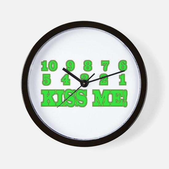 Kiss me countdown Wall Clock