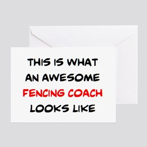 awesome fencing coach Greeting Card