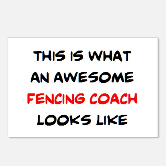 awesome fencing coach Postcards (Package of 8)