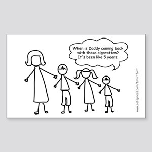 Funny Stick Figure family Sticker