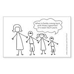 Funny Stick Figure family Sticker