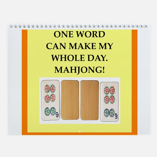 Mahjong Player Wall Calendar