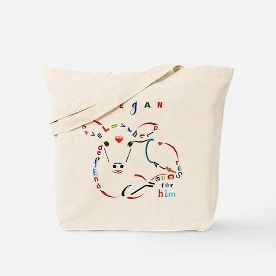 Calf Typography Tote Bag