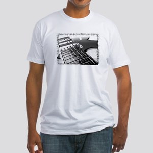 Electric Guitar 1 Negative Fitted T-Shirt