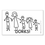 Stick Figure Family Sticker