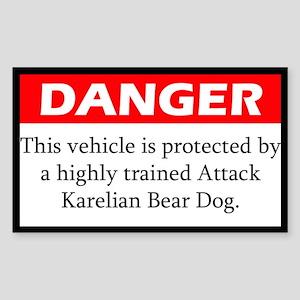 Attack Karelian Bear Dog Sticker