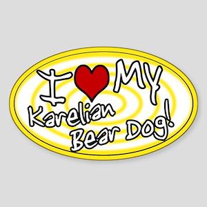 Hypno I Love My Karelian Bear Dog Sticker Ylw