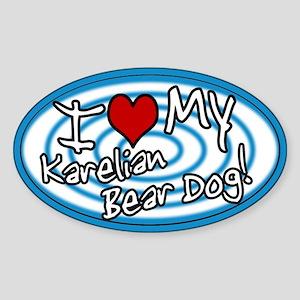 Hypno I Love My Karelian Bear Dog Sticker Blue