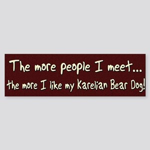 The More People Karelian Bear Dog Bumper Sticker