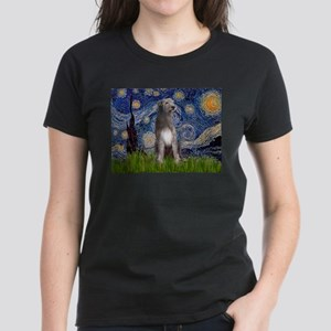 Starry/Irish Wolfhound Women's Dark T-Shirt