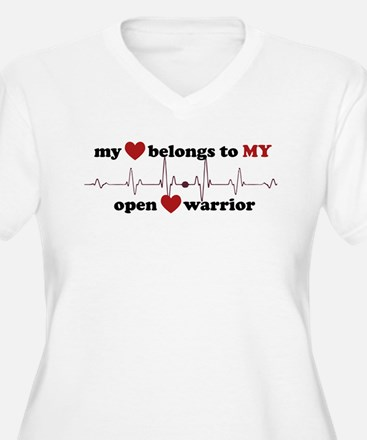 Open Heart Warrior Plus Size T-Shirt