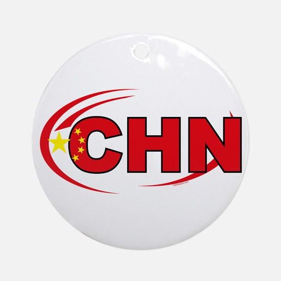 Country Code China Ornament (Round)