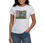 Lilies / Keeshond Women's T-Shirt