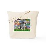 Lilies / Keeshond Tote Bag