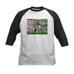 Lilies / Keeshond Kids Baseball Jersey