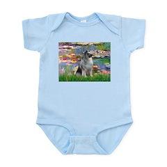 Lilies / Keeshond Infant Bodysuit