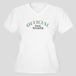 Dog Walker Women's Plus Size V-Neck T-Shirt