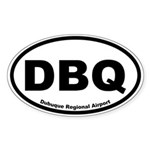 Dubuque Regional Airport Oval Sticker