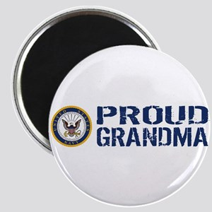 U.S. Navy: Proud Grandma (Blue & White) Magnet