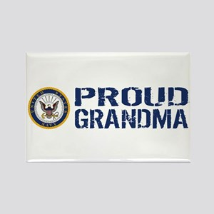 U.S. Navy: Proud Grandma (Blue & Rectangle Magnet