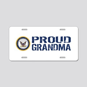 U.S. Navy: Proud Grandma (B Aluminum License Plate