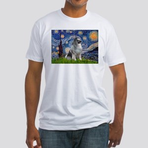 Starry / Keeshond Fitted T-Shirt