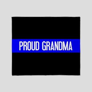 Police: Proud Grandma (The Thin Blue Throw Blanket