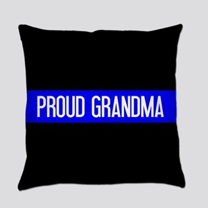 Police: Proud Grandma (The Thin Bl Everyday Pillow
