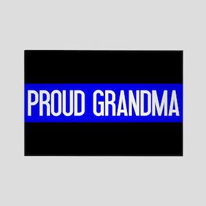 Police: Proud Grandma (The Thin B Rectangle Magnet
