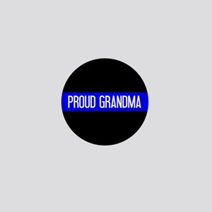 Police: Proud Grandma (The Thin Blue L Mini Button