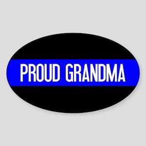 Police: Proud Grandma (The Thin Blu Sticker (Oval)