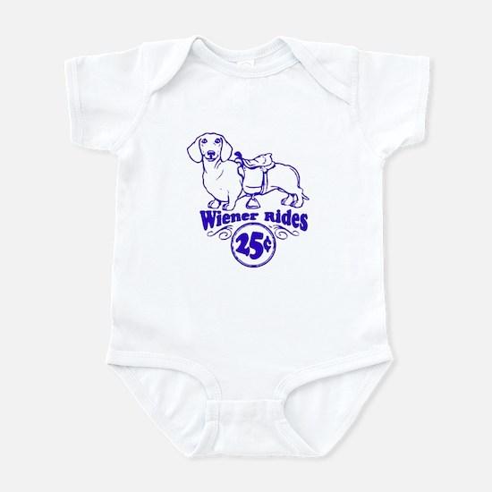 Weiner Rides 25 cents Infant Bodysuit