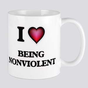 I Love Being Nonviolent Mugs
