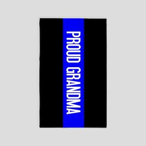 Police: Proud Grandma (The Thin Blue Line Area Rug