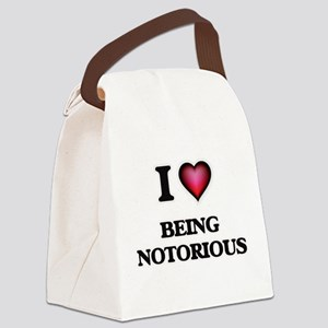 I Love Being Notorious Canvas Lunch Bag