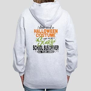 School Bus Driver Halloween Women's Zip Hoodie